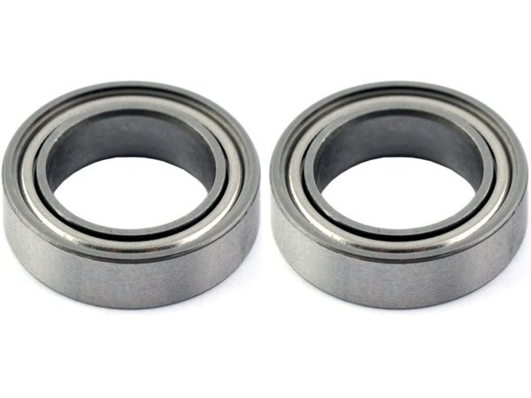 Ball Bearings, Metal Shielded # 4 x 7 mm Flanged (1 pair)