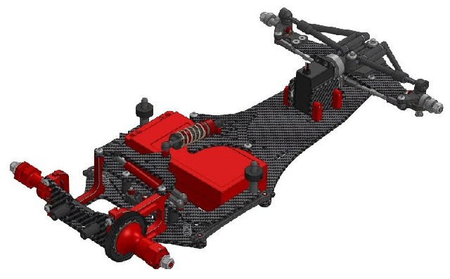 CRC WTF-1-FC16 Formel-Chassis 1:10