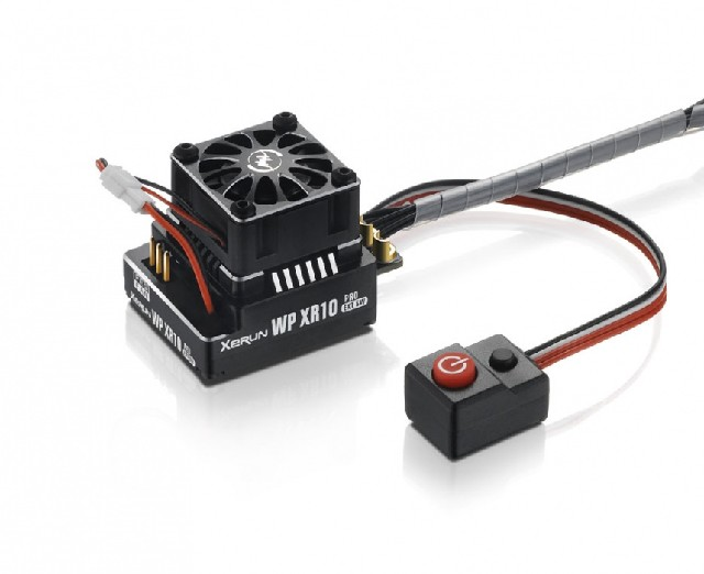 Hobbywing Xerun XR10 Pro Ext. Switch Brushl. ESC Black 160A, 2-3s LiPo