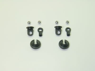 Shock Spring Collar with Ballends + Balls (1 pair)